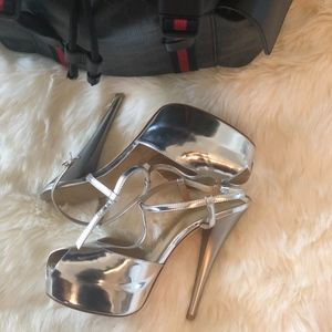 YSL Silver Heel